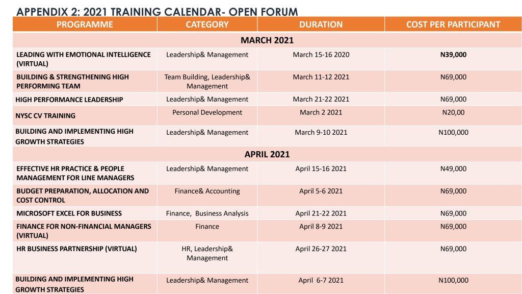 Training Calendar_Mar_Apr